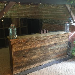wooden bar side view